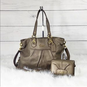 Coach Ashley Leather Carryall and Wallet Set